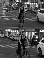 [La Mia Città][Pedala] (Urca) Tags: milano italia 2016 bicicletta pedalare ciclisti ritrattostradale portrait dittico nikondigitale mirò bike bicycle biancoenero blackandwhite bn bw 907164