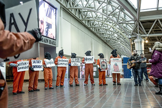 Anti-Torture Demonstrators Tell the Stories of Guantánamo Detainees at Union Station