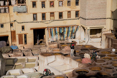 Fes, Chaoura Tannery (ReinierVanOorsouw) Tags: canonlens photography reiniervanoorsouw reiniernothere marokko morocco moroc sonya7rii sony sonya7r travel northafrica african arabicafrica roadtrip travelling exposure colours marrocos марокко fes tannery stinkybaths tanneryfes