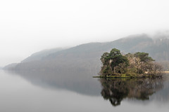 On the Bonnie Bonnie Banks... (amcgdesigns) Tags: andrewmcgavin lochlomond misty still reflections reflection tree island scotland scottish loch water eos7dmk2 sigma1850mm tranquillity