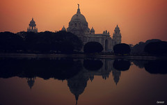 Sunset at Kolkata,India (iJoydeep) Tags: sunset victoriamemorial victoria imagevictoria nikon d7000 ijoydeep joydeepsphotography kolkata india cityofjoy incredible