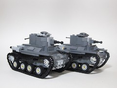 LEGO Light tanks (Third Model (Hei-gata)) (nunutsuki(ぬぬつき)) Tags: legotank legomilitary lego tank