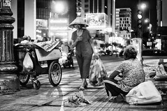 empathy (kuuan) Tags: gxr ricoh mmodule manualfocus mf ltm m39 canon rangefinder f2 35mm 235 f235mm canonltmf235mm saigon hcmc vietnam street poor poorpeople empathy trash bw pity women poverty ricohgxrm gxrmmodule