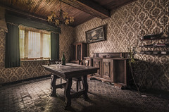 Take away the christmas tree and open up the champagne! (marco18678) Tags: nikon d750 tamron 1530 lost abandoned decay urbex urban exploring natural light hidden christmas tree champagne happy new year beautiful photography table painting lamp europe world belgium lonely pixanpictures maison house window eu ue urbanexploring naturallight mysterious decayed old