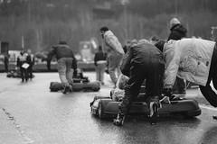 Go! Go! Go! (iamWing_) Tags: acros bw bukc bukc2017 blackwhite britain buckmorepark england fuji fujifilm monochrome plymouth plymouthuniversity uk unitedkingdom xpro2 xf56 championship karting race racing rain sport sports teammate track weather wet