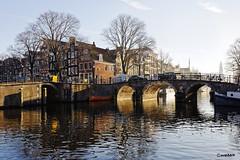 Amsterdam. (alamsterdam) Tags: bridge winterday reflections canal brouwersgracht
