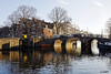 Amsterdam. (alamsterdam) Tags: bridge winterday reflections canal brouwersgracht