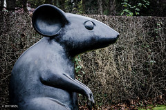 It's A Mouse!! (BGDL) Tags: lightroomcc afsnikkor55200mm1456g bgdl urban nikond7000 sculpture mouse robertburns alloway ayrshire 7daysofshooting week29 imitations geometrysunday