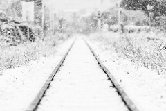 Snow on Tracks (Christophe_A) Tags: snow train tracks patra greece christophe christopheanagno christopheanagnostopoulos cold winter nikond800 180mm