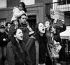 Donald Trump Protest - Manhattan - November 2016 (A Screaming Comes Across the Sky) Tags: manhattan nikon d800 d800e tamron 2470 f28 donald trump protest nyc new york city newyork outdoor blackandwhite monochrome people text