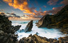 Ocean & earth (marcolemos71) Tags: seascape sea water waves atlanticocean rocks stones hightide sky clouds evening sunset longexposure leesw150 leend09h leend09s abano cascais marcolemos