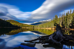 Good morning at the Lake (LeonardRenz_Photography) Tags: lake reflection landscape nature exposure sony a6000 lpha tree forest mountains mountain snow jasper alberta canada backpacker photography