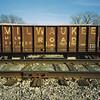 Railroad (orangedot777) Tags: railroad railroadtracks orecar traintracks ricohr1 milwaukeeroadrailroad freightcar kodakfilm sansserif milwaukeeroad