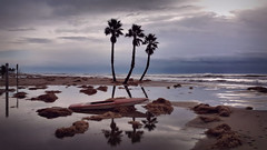 El Vendrell, Spain (D-A-O) Tags: elvendrell spain mediterraneansea beach storm silhouette reflections backlight waves weather galaxys7