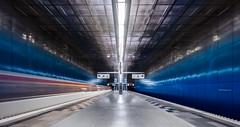 Take the A Train (katrin glaesmann) Tags: hamburg tube metro ubahn station ubahnhof hvv u4 überseequartier colour train