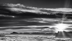la vie est pleine de nuages (glookoom) Tags: bw blackandwhite black monochrome montagne mer merdenuages soleil noiretblanc nature nuage contraste cloud lumière light landscape paysage massif alpes france rhônealpes chamrousse vercors
