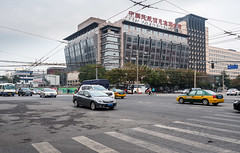 Cars on Wangfujing, Beijing, intersection (Victor Wong (sfe-co2)) Tags: architecture background beijing buildings business busy cars china city cityscape dongsiwest downtown fast freeway highway highwaytraffic interchange intersection junction landscape meishuguaneast network outdoors property road skyline skyscraper speed street traffic transport transportation travel urban vehicles view wangfujing way bikes motorbikes motorcycles cycles people cyclist bicycles