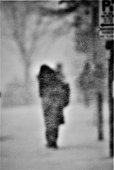 """"""" Going Home"""" (gmayster01 on & off ...) Tags: monochrome blur blurism dof bw nb montreal montréal winterstorm goinghome photoart gmayster01 gmayster guymayerphotography flickr marchmadness snow neige 514 photography exploremtl lovemontreal canada explorecanada explorequebec"""