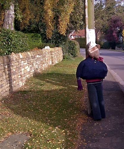 Halloween scarecrow,Harlaxton Lincolnshire,October 31st 2016.