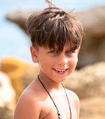 Samual (annetacharitonos) Tags: 5star boy beach greece kefalonia portrait