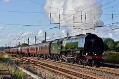 46233 (Down to nowhere) Tags: steamlocomotive lms britishrailways 462 duchessofsutherland westcoastmainline wcml 8p 46233 wcrc westcoastrailways cumbrianmountainexpress euxtonbalshawlane railwaytouringcompany 1z64 princesscoronationclass lmslocomotives euxtonbalshawlanejunction