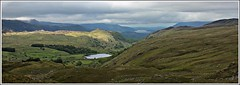 Watendlath tarn. (stu.bloggs..Dont do Sundays) Tags: light summer terrain sunlight lake mountains clouds landscape lakes lakedistrict foliage cumbria fells views derwentwater moor tarn lakeland moorland watendlath rockyoutcrops