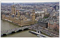 Overview of London and BigBen from London Eye (Mohamed Essa) Tags: uk london cityscape britain londoneye bigben cityview