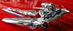 Chrome woman hood ornament (fxb_81 tom poston) Tags: red woman beauty female curves ornament chrome figure hood nash whimsey metropolitian