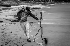 The boy on the beach (MatthiasG Photography) Tags: bw beach kids fun play sony alpha schwarzweiss dnemark duch alpha58