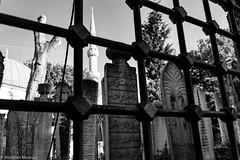 (Abdallah A. Mansour) Tags: blackandwhite bw monochrome cemetery architecture canon turkey geotagged eos death islam places istanbul mosque tomp tr 550d