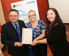 Siobhan Gibson from Townsend Enterprise Park at the WorldHost Celebration and Certificate Presentation