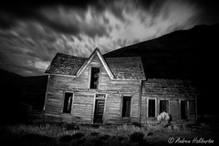 Ghost House Light Painted (AndrewHaliburton.com) Tags: abandoned andrewhaliburton astrolandscape astronomy astrophotography biggs creepiestplaces derelict deschutesriver dilapidated earthandspace farmhouse ghost harrisranchhomestead haunted imagination lightpainting meteor midnight milkyway nwafterdark night nightphotography nightshoot nightsky nikonmfnikkor28mmf2ai noctography nocturnes park rrsbd700l rrsbh55pcl rrstvc33 reallyrightstuff scariestplaces shootingstar star starry state wasco longexposure thedalles oregon usa onone nikon nikkor