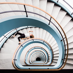 Never Ending Circles (Philipp Gtze) Tags: people architecture staircase