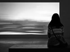 Still life (kawaHARA.) Tags: blackandwhite toronto canada monochrome movie long exposure stripes watch projection sit stationary striated