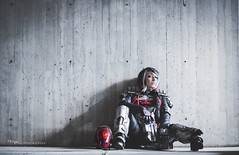 In Thought (Ngo_Photography) Tags: new york red game comics dc costume video outfit comic cosplay gaming convention batman hood costuming universe con alternate dlc 2015 nycc cosplaying nycc2015