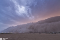 Kuwait - Tsunami Of Haboob (Sarah Al-Sayegh Photography | www.salsayegh.com) Tags: sunset nature weather canon photography kuwait dust duststorm landscapephotography haboob stormchase leefilters canoneos5dmarkiii wwwsalsayeghcom sarahhalsayeghphotography infosalsayeghcom