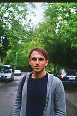 There He Goes (Joe[insanely]) Tags: autumn film f freiburg pentaxmx badenwrttemberg nyyankee kodakportra400