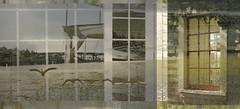 HWW~ P Town (Karen McQuilkin) Tags: windows abstract birds vintage geese bridges portlandoregon houseboats theawardtree happywindowwednesday karenmcquilkin