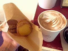 (Kimberly C. Lee) Tags: eastvillage coffee chocolate manhattan ev mocha espresso vanilla dulcedeleche alfajores nycfood alfajor nycbakery shortbreadcookie nyccafe coffeeandsweets zuckerbakery chocolatealfajor vanillaalfajor