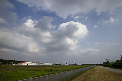 A SMALL AIRPORT, SOME PARKS AND CLOUDS - VIII (Jussi Salmiakkinen (JUNJI SUDA)) Tags: summer sky japan clouds airplane landscape tokyo airport woods aircraft parks     chofu