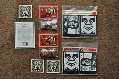 OBEY - USA - Stickerpack (Vinylone AFS + NO trades) Tags: usa buttons obey stickerpack