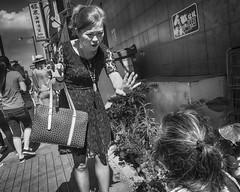 Philadelphia, 2015 (Alan Barr) Tags: street people blackandwhite bw philadelphia monochrome mono blackwhite chinatown candid sony streetphotography sp streetphoto 10thstreet 2015 rx1003 rx100m3 rx100iii