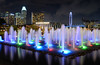 Clifford Pier Fountain (henriksundholm.com) Tags: night fountain ferriswheel singaporeflyer reflections cliffordpier artscience museum helixbridge bridge fullerton fullertonpavilion mandarinoriental park tower centennialtower stones rocks pebbles water marinabay bayfront singapore southeast asia city urban downtown