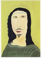 Maira Kalman (Manitoba Museum of Finds Art) Tags: monalisa postcard