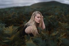 Summer storms (Ella Ruth) Tags: portrait woman longhair blonde expressive hills hilltop shropshirehills shropshire ferns bracken nature naturallight 50mm 14 d750 nikon summer storms stormysky moody photographer shrewsbury leicester ellaruth