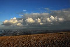 Lydd on Sea (richwat2011) Tags: septoctnov16 kent sea seaside seascape englishchannel coast coastline shore shoreline lade lyddonsea southcoast romneymarsh beach sand shingle nikon d200 18200mmvr cloudysky clouds darkclouds shepway