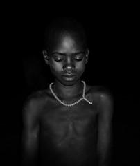 Hamar Tribe (Rod Waddington) Tags: africa african afrika afrique ethiopia ethiopian ethnic etiopia ethnicity ethiopie äthiopien omovalley hamer hamar tribe traditional tribal child blackandwhite outdoor nightphotography night portrait people beads demeka