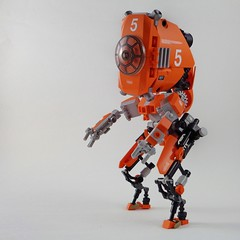 M9 Orangehead 5 Drone (Marco Marozzi) Tags: lego legomech legodesign droid drone droneuary marco marozzi mecha moc robot