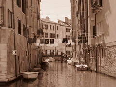 Venice, Italy IV (RoccerSoccerDave) Tags: italy venice sepia canon sx220hs street powershot