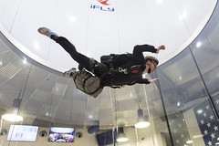 A Sailor practices proper freefall technique during military freefall training. (Official U.S. Navy Imagery) Tags: eod eodgru2 explosiveordnancedisposal explosiveordnancedisposalgroup2 navy freefall parachutist training verticalwindtunnel militaryfreefall mff virginiabeach va unitedstates